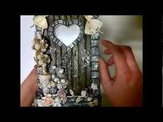 Fairy Belle - Altered Box with Fairy door Mini Album inside.../ so pretty...love the door!