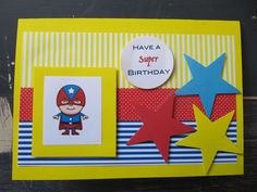 Handmade Superhero Birthday Card