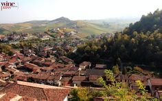 Incredible panoramic view from Castellinaldo, Roero wine zone, Piemonte, Italy