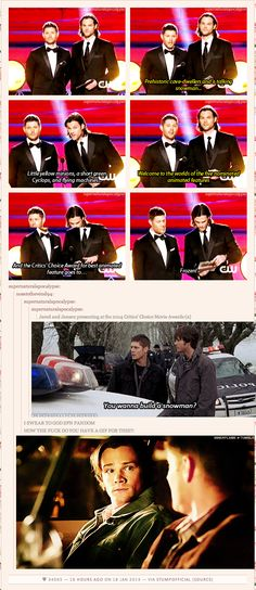 "[GIF] Supernatural truly does have a gif for everything - ""Do you wanna build a snowman?"""