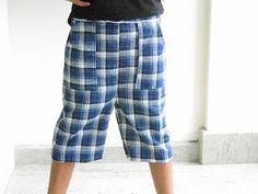 Boy's Shorts Sewing Pattern, Easy Bermuda Shorts Tutorial, Free Pattern
