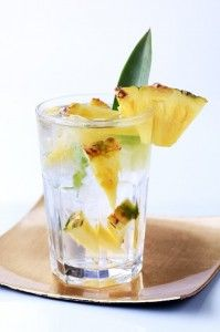 pineapple water! Just add pineapple and ice to your water!
