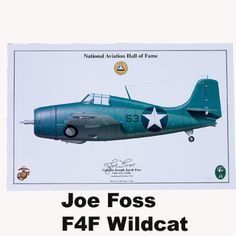 Limited Edition Signed Aircraft Print Signed by Joe Foss