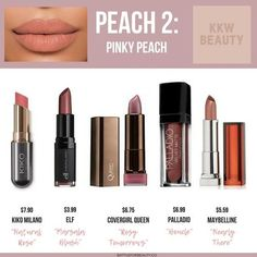 Care Tips For Beautiful Skin These are the top 5 drugstore dupes of 2018 for the KKW Beauty Peach Creme Lipsticks!These are the top 5 drugstore dupes of 2018 for the KKW Beauty Peach Creme Lipsticks! Eyeshadow Dupes, Lipstick Dupes, Lipstick Colors, Neutral Lipstick, Coral Lipstick, Bright Lipstick, Eyeshadow Ideas, Lipstick Swatches, Lipsticks