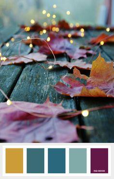 Mustard + Purple and Teal Autumn Color Palette | fab mood - color palettes