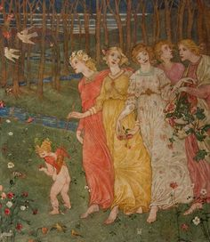 Phoebe Anna Traquair (1852-1936) - Cupid's Darts   A key figure in the Scottish Arts and Crafts movement.