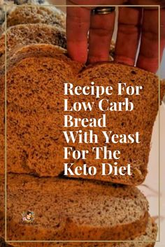 The search is over for an authentic bread that is okay to eat with the Keto diet. With only 2 net ca. No Bread Diet, Best Keto Bread, Low Carb Bread, Easy Keto Bread Recipe, Lowest Carb Bread Recipe, Bread Recipes, Keto Recipes, Healthy Recipes, Keto Foods