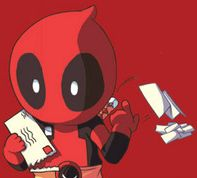 """Bills, bill, bill, limited time offer on blah blah, bill, ooooh a death threat!"" #Deadpool"