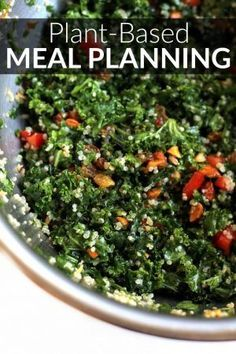 This guide to plant-based meal planning makes it easy to prep healthy, vegetarian meals for the week ahead in order to save time, money, energy, and calories!