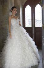 Gizelle (3) Designer Wedding Gowns, Designer Gowns, Alfred Angelo, Plus Size Designers, Crystal Beads, Veil, Bridal Gowns, One Shoulder Wedding Dress, High Fashion