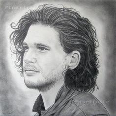 Jon Schnee - Jon Snow, Kit Harington, Bastard, Game of Thrones, Porträt