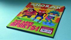 Anorak, una revista de cultura pop, con diseño exquisito, para niños de colegio en http://www.yorokobu.es