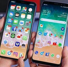 iPhone X vs Samsung Galaxy note 8 Who is Better? Samsung Galaxy Note 8, Samsung A9, Galaxy A5, Smartphone, Apps Android, Iphone Layout, Cell Phone Plans, Phone Organization, Iphone Camera