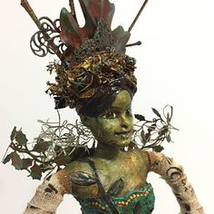 Mixed Media Art Doll Assemblage Cage Doll Sculpture