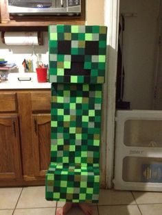 Minecraft Creeper Costume.  I will link this back to my blog soon with directions.
