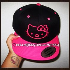 I fucking found it!!!! Hello Kitty snapback; I'm hella in lalaL0VE! I'm gonna take pix in it this week(: