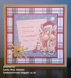 Forever Friends Kraft Notes Christmas card Christmas Cards To Make, Handmade Christmas, Forever Friends Cards, Digital Designer, Craftwork Cards, Tatty Teddy, Crafts To Do, Peppermint, Cardmaking