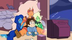 This started out just Jasper and Steven, but then I started thinking about Peridot, and then Lapis, so I said why not! It sucks being an artist on devia. Steven Universe Mom, Spiritual Animal, Lapidot, Pixar Movies, Universe Art, Ghost In The Shell, Rock, Cartoon Network, Memes