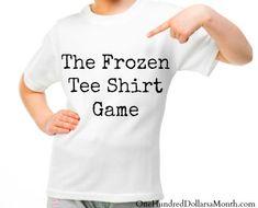 Frozen Tee Shirt Game – Fun Summer Activities for Teens