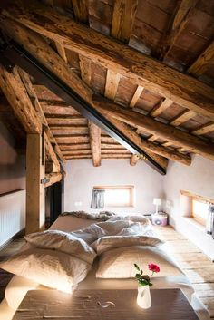 Selected images from by Stefano Scatà Photography Pole Barn House Plans, Pole Barn Homes, Small Beach Houses, Tiny House Loft, Bohinj, Attic Bedrooms, Cottage Style Homes, Attic Spaces, Cabin Homes