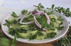 #gialloblogs #ricetta #appetitoso Cetrioli e portulaca in insalata | In cucina con Mire