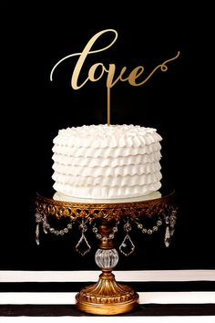 Love Cake Topper by BetterOffWed on Etsy