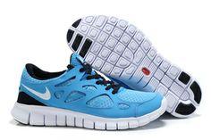 Nike Free Run 2 Blue GlowWhiteBlack Womens Shoes