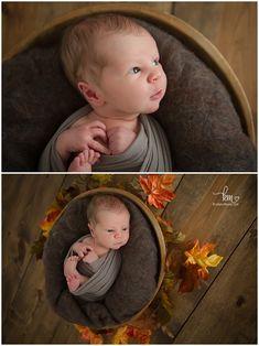 fall newborn baby photography