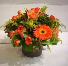 Centro de flores perfecto para una mesa veraniega