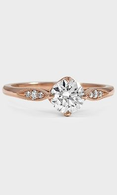 This romantic and delicate ring looks beautiful in rose gold.