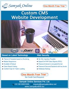 Custom CMS Website Development: Enjoy One Month Free Trial *