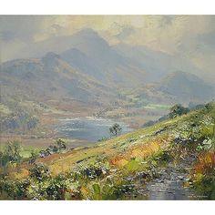 Rex Preston Little Langdale Tarn Mini Paintings, Seascape Paintings, Landscape Paintings, Watercolor Landscape, Abstract Landscape, Mountain Paintings, Art Techniques, Art Pictures, Photo Art