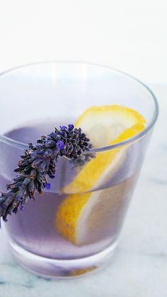 lavender soda with lemon juice