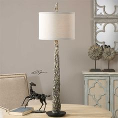 Uttermost Tegal Old Wood Buffet Lamp