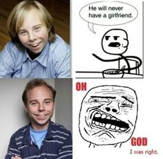 """hahahahahaha! who remembers """"bean"""" from even stevens?! love these """"he will never have a girlfriend"""" series.."""