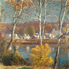 Impressionist Landscape, Impressionist Paintings, Landscape Art, Landscape Paintings, Landscapes, Classical Realism, American Impressionism, Pictures To Draw, American Artists