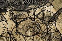 Cast Shadows of Wire Chairs and Tables, photo by Terrain