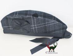 e59bc9909c7 Custom-made Glengarry in the Highland Granite Tartan. Scottish Hat