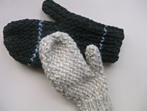 Loom knit mittens with stripes ... beyond the basics