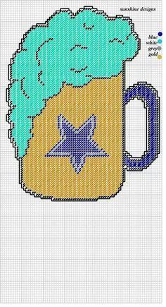 Cowboys beer mug - would make it a steelers one Plastic Canvas Coasters, Plastic Canvas Ornaments, Plastic Canvas Crafts, Plastic Canvas Patterns, Football Crafts, Football Stuff, Cowboy Crafts, Plastic Sheets, Crochet Chart