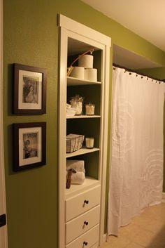Built In Bathroom Closet