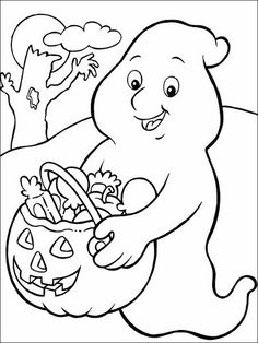 Printable coloring pages for kids Halloween 71