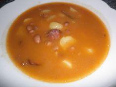 Fotorecept: Fazuľová polievka s klobáskou