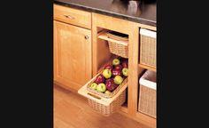 Panier coulissant en osier pour armoires de cuisine - Rangement pour armoires de cuisine | Accessoires de cuisine
