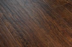 BuildDirect – Laminate - 12mm Exotic Wide Plank Collection – Samoa Walnut - Angle View