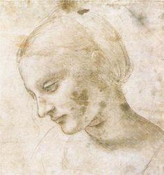 Study of a woman's head - Leonardo da Vinci