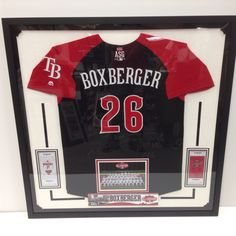 Boxberger all star American League jersey signed by the Whole team 2015.