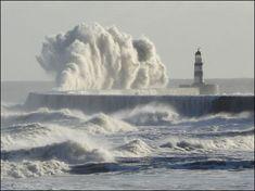Waves crashing in Seaham. By Richard Jennings