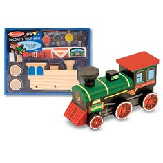 Melissa and Doug Decorate-Your-Own Wooden Train - Beyond the Rack