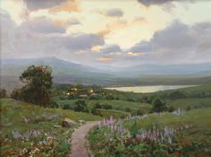 Aleksander Babich. Spring Evening, Oil. Russian Artist